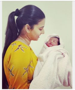 Suhani Mehrotra with her baby